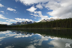Herbert Lake (ryan.kole32) Tags: banff banffalberta banffnationalpark jasper jasperalberta jaspernationalpark alberta canada canadianrockies rockies rockymountains mirrorimage reflection herbert herbertlake lake landscape nature beauty beautyinnature bluesky clouds trees forest sony sonya77 peaceful calm serene serenity