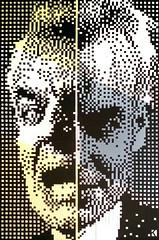 Bob/Leland  100x150 cm,  cartongesso  Available (.krayon) Tags: krayon twinpeaks lelandpalmer leland pixel pixelart doubleface artwork handmade painting