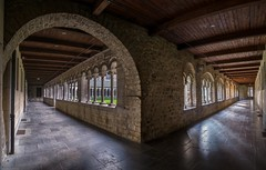 Sainte-Gertrude Cloister (Blueocean64) Tags: belgium wallonie nivelles architecture geometry eglise church inside panorama panoramic ptgui intérieur interior hdr autumn explore panasonic g5 美丽 艺术 摄影 欧洲 旅游 blueocean64