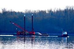 Dredging Barge & Tugboat_25_0044-D32 (john_robson) Tags: tugboat fraserriver dredgingbarge bccanada mapleridge
