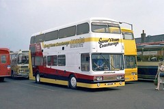 Photo of Swaffham Coachways UEX 17 & 18W - King's Lynn Bus Station 080981
