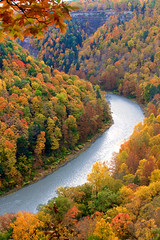 Just Around the Riverbend (Sarah Sonny) Tags: fall autumn leaves colors landscape upstateny fallcolors falltrees gorge hills river stream water colorful