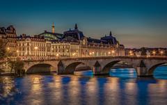 Musée d'Orsay (aurlien.leroch) Tags: france paris sunset seine nikon d7100 cityscape muséedorsay toureiffel eiffeltower night