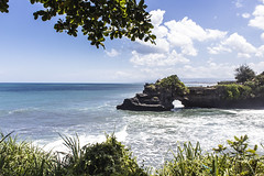 Tanah Lot Beach 4 (pradeep javedar) Tags: canon600d canonphotography landscape seascape tanahlot bali indonesia travel explore temple beach sea marine sand water rock formations cove cliff blue clearwater bluesky nature natural beauty yabbadabbadoo