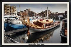 Gloriana (mickyman13) Tags: canon cannoneos60d eos eos60d 60d 60deos london gloriana britishroyalbarge british royalbarge boats boat vessel barge alltypesoftransport rowingboat row rowing stkatharinesdock