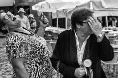 stop laughing please... (John Bastoen) Tags: straatfotografie street streetphotography streetshot laughing fun bw joy portugal guimaraes