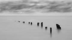 Sheppey (murrin1985) Tags: groyne isleofsheppey sea clouds 10 stop longexposure