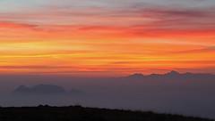Brescia and Garda Prealps at dusk (ab.130722jvkz) Tags: italy lombardy alps easternalps bresciaandgardaprealps sunset mountains