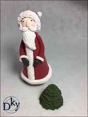 PAPA NOEL (Dinkyta (Miryam)) Tags: deco clay polymerclay arcilla de secado al aire modelado oso osito angel papa noel