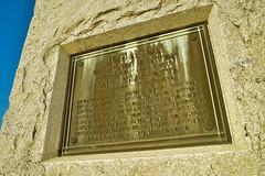 Graveyard Marker, Pomona, Kansas (thefisch1) Tags: marker grave pamona kansas placque monument stone philosophy prose bronze old interesting oogle sky granite obelisk
