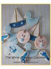 nautical (The Whole Cake and Caboodle ( lisa )) Tags: babyshower baby whangarei thewholecakeandcaboodle caboodle cookies cookie children