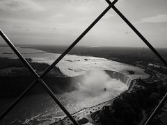 A fame untamed. (von8itchfisk) Tags: blackandwhite monochrome niagarafalls waterfall skylontower water boat maidofthemist height battisford vonbitchfisk canada