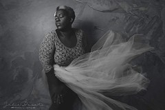 Ballerina Daydreams (Cammydoll) Tags: ballerina ballet dreamer black ebony woman dark skin blackandwhite lace tutu bbw plus curvy bodypositive body positive model modeling toronto guelph ontario