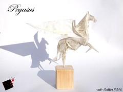 pegasus (-sebl-) Tags: origami sebl paper glassine horse pegasus wing white