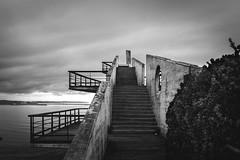 (Irene Ziel Photography) Tags: monocromatico blancoynegro bnw monocromo blanco negro paisaje airelibre cielo sky gijn asturias espaa canonflickraward canon tamron mirador