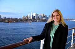 DSC_4947 (Vintage Alexandra) Tags: queen mary 2 ship ocean liner cunard qm2 travel portrait sister new york city brooklyn sunset