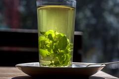 mint tea (arju16) Tags: canon canoneos40d dhrubajyotibhoktiari rishikesh haridwar rituals gangarituals tea minttea germancafe glass bokeh mint sunlight