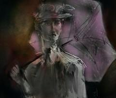 """Pink Umbrella (""""Jimmer"""" ( http://jim-vance.pixels.com )) Tags: umbrella portrait"""