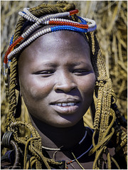 Mursi Tribe Woman (Luc V. de Zeeuw) Tags: headdress mun mursi omo omovalley tribe woman wood southernnationsnationalitiesandpeoplesregion ethiopia