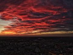 Leipzig am Abend (Tino S) Tags: leipzig uniriese sonnenuntergang sunset skyisburning coloredsky