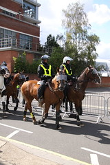 Mounted Police at Portman Road (Ian Press Photography) Tags: ipswich town football club portman road suffolk norwiich city fc 999 police emergency service services match old farm derby championship norfolk horse horses mounted