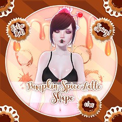 Pumpkin Spice Latte Shape (Coffee  Biscuit) Tags: secondlife shape pumpkinspicelatte cookie biscuit coffee
