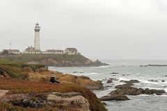 Pigeon Point Lighthouse (Claude-Olivier Marti) Tags: usa unitedstates etatsunis california californie fog brouillard highway1 poselongue longexposure leefiltre leebigstopper coast pasific pigeonpoint pigeonpointlighthouse lighthouse phare