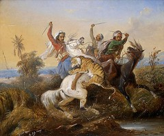 aseantoo submitted: Raden Saleh The Tiger Hunt Netherlands (1845) [Source] Raden Saleh Sjarif Boestaman (1811-1880) was a Javanese Indonesian painter who traveled to the Netherlands to study art. He became renowned as both a portrait and a landscape paint (medievalpoc) Tags: medievalpoc 1800s week artist color submission raden saleh