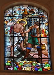 Ragusa Ibla (Sicilia-Italia). Iglesia San Giorgio. Vidriera (santi abella) Tags: ragusa ragusaibla sicilia italia vidrieras