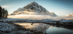 The Buachaille (Katherine Fotheringham) Tags: buachaille etive mor scotland glencoe reflection snow fog mist trees cold winter