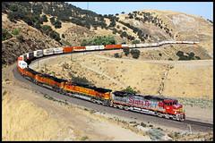 BNSF 610 (golden_state_rails) Tags: bnsf santa fe atsf tehachapi pass cliff bealville clear creek ravine c449w warbonnet