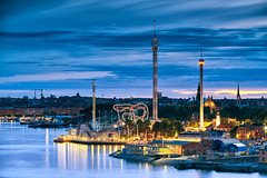 Grna Lund (Silviu Gheorghe) Tags: stockholm sweeden europe clouds water summer landscape grnalund skyline outdoor dusk city sky sea arhitecture