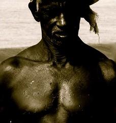 the power of age (claradorey88) Tags: fisherman india age beach man portrait