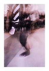 Volta (Baipin) Tags: leica iiic leitz wetzlar voigtlander cv cosina 25mm 35mm f4 kodak fuji superia s400 400 iso analog flash manual nosync sync no none timed timing handheld sit fashion volta uwo mag flss walk pink indoor light balance white black filthy recycle upcycle document documentary baipin london place uni