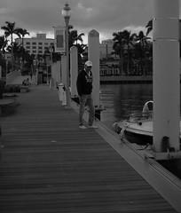 IMG_0822 (katie_sokoloff) Tags: 50mm 5d canon landscape urban dock florida palmbeach downtown grayscale blackwhite man