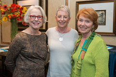 Blanche Tyson, Judy Fred and Joyce Ericsson at the PARTNERS Fall Coffee. (UTHealth) Tags: uthealth school nursing partners fall coffee 2016 houston texas university health science center