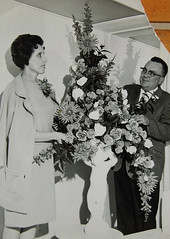 The Bouquet (~ Lone Wadi ~) Tags: gentleman lady flowers bouquet retro mysterious unknown 1960s