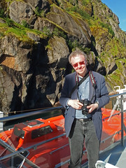 Philip on the MS Spitsbergen in Trollfjord (Phil Masters) Tags: 21stjuly july2016 norwayholiday norway raftsund raftsundet thetrollfjord trollfjorden trollfjord shipsandboats msspitsbergen hurtigruten philip lifeboat