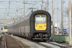 Gand-Gent-Dampoort Am96 SNCB 541 (DiL Photos) Tags: infrabel croissrail sncb am96 bombardier alstom siemens vectron traxx class66 desiro am08 type 13 fret hkm cargo