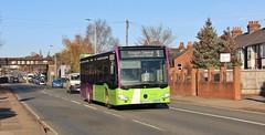 BF65 HVT, Ipswich Buses Citaro 153, Norwich Road, 25th. November 2016. (Crewcastrian) Tags: ipswich buses ipswichbuses transport norwichroad mercedes citaro bf65hvt 153