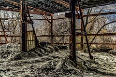 2009021337tipped and wood_HDR.jpg (kleet245) Tags: photo overgrown canoneos winter phillipsburgnj nature buildings canon weather oldfactory lehighvalley seasons rundown towns pburg warrencounty nj phillipsburg factory newjersey outdoors places landscape conditions leftalone abandonded