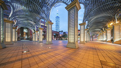 Cathay United Walkway (Edward Tian) Tags: architecture a7rm2 a7throughmyeyes buildingexterior builtstructure cityscape capitalcities citylife cbd city taiwan taipei101 traveldestinations traveldestination travel touristdestination editorial uniquearchitecture urbandevelopment