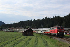 DB 218-429 + IC2013 'Nebelhorn' (Openbaar vervoer in Europa) Tags: db br218 ic2013 oberstdorf hamburg stuttgart allgäu nebelhorn