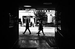 (formwandlah) Tags: kaiserslautern sunny day winter street photography streetphotography silhouette silhouettes silhouetten shadow schatten dark noir urban candid city strange gloomy cold sureal bizarr skurril abstract abstrakt melancholic melancholisch darkness light bw blackwhite black white sw monochrom high contrast ricoh gr pentax formwandlah thorsten prinz licht shadows fear paranoia einfarbig schwarzer hintergrund nacht fotorahmen spiegelung reflection reflektion schrfentiefe brgersteig landstrase