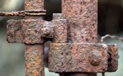 Form and shape. (Joseph Skompski) Tags: catonsvillemd catonsville maryland patapscostatepark patapsco naturetrail nature ruins fence rustymetal rusty rust