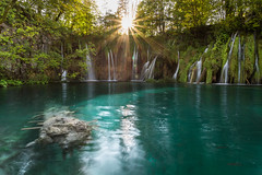 Plitvice National Park (LennartAiscan) Tags: plitvice nationalpark nature naturepic water waterfall blue turqoise summer adventure sunset sun sunstar forest croatia green landscape landscapephotography landscapes longexposure lake explore exotic circularpolarizer