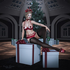 { All I want for Christmas...} (Trinetty Skytower) Tags: sl secondlife avatar digital virtual christmas holiday present gift lingerie sexy pinup truth ooostudio tlc theliaisoncollaborative reign erratic boom laq glamaffair maitreya fetch theloft rageworks anc pose prop photography fashion