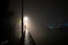 foggy harbor (o Nightfox o) Tags: portishead bristol night fog light water nikon