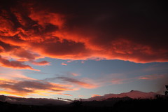 Red sunset above the Etna (Héloïse Picot) Tags: sunset tramonto fire sky clouds etna panorama landscape snow neve unesco unescoworldheritage sicily sicilia sicile nature wild vulcano volcan volcano