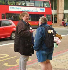 Wonga! (helenoftheways) Tags: street uk people london candid teddies teddybears catford londonbus